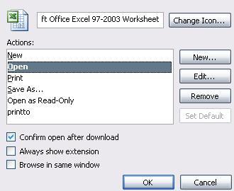 Uruchamianie Excela na XP